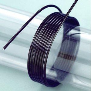 Aluminiumtråd ø 2 mm - svart 5 m / ~ 42 g