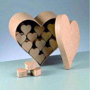 Ask butiksdisplay 25 x 25 x 12 cm - 51 delar hjärta