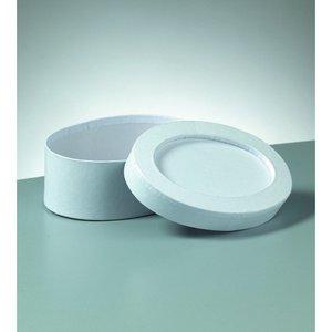 Ask mosaik 23 x 17 x 6 cm - vit oval