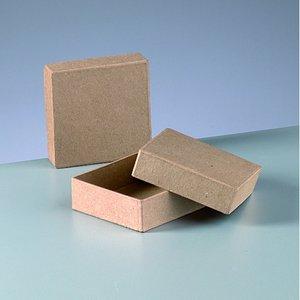 Ask platt mini 9 x 9 x 3 cm - kvadrat