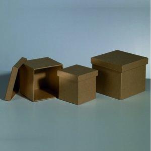 Askar set 12x12x11 / 10x10x10 / 8x8x9 cm - 3 delar rektangulära