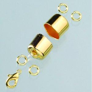 Avslutningsdelar 10 mm - guldpläterade 1 par
