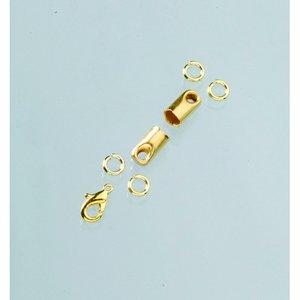 Avslutningsdelar 4 mm - guldpläterade 1 par