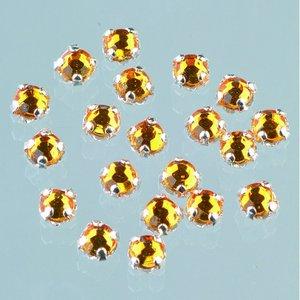 Strasstenar ø 3-5 mm - topas 20-pack fastsys