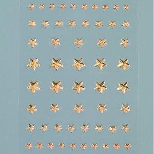Strass akryl självhäftande 4 5 6 8 mm - ljus topas 56-pack Stjärna