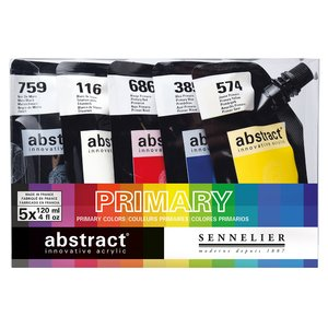 Akrylfärgset Sennelier Abstract - Intro set 5 x 120ml