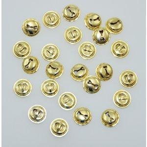 Bjällror guldfärgade 25 st 15 mm