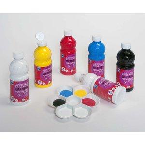 Skolfärger L&B Glossy 500 ml- 6 Färger