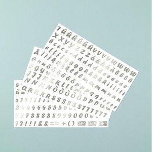 Color-Dekor färgfolie 180 °C 100 x 200 mm - silver 3 stycken skrift bokstäver
