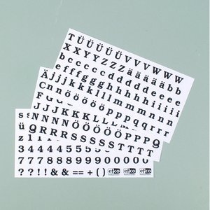 Color-Dekor färgfolie 180 °C 100 x 200 mm - svarta 3 st bokstäver + siffror