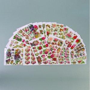 Glansiga bilder - 25-pack - 1 st. Blommor - Modell blandade
