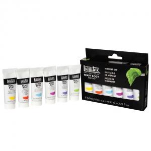 Akrylfärgsset Heavy Body Liquitex Pulserande färger - 6x22 ml