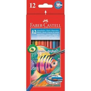 Akvarellpennset Faber-Castell Redline - 12 Pennor