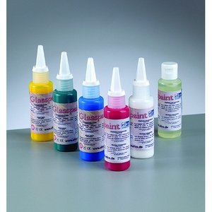 Glasfärg - genomskinlig - 50 ml (flera olika färgval)