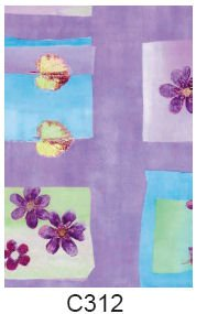 Decopatch-papper (lila blommor)