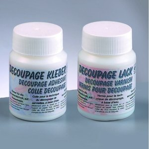 Decoupage-set - 2 x 100 ml 1 x lim