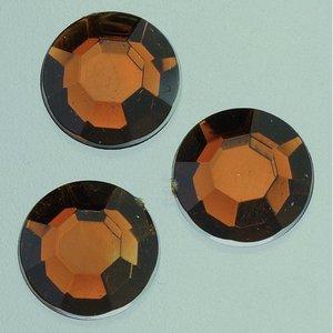 Dekorsten akryl facetterad - brun
