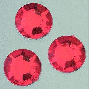 Dekorsten akryl facetterad - röda