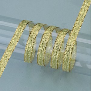 Dekorband guld 6 mm - 50 meter - guld