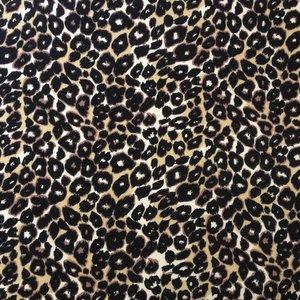 Djurmönstrad trikå - Leopard svart/vit/gul - 160 cm
