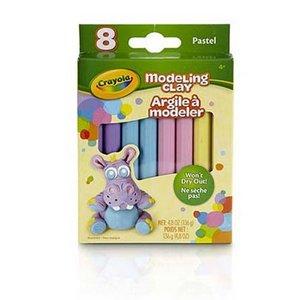 Modellera Crayola Pastell - 8 delar