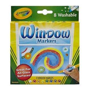 Fönstermarker Crayola - 8 pennor