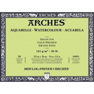Akvarellblock Kallpressad Arches 185g
