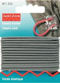 Elastiskt snöre 2.5mm grå 3m