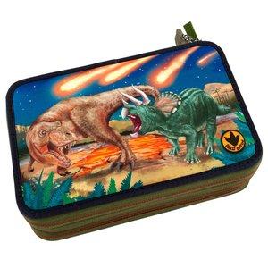 Pennfodral med ljus Dino World