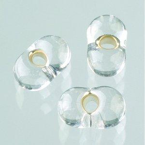 Farfallepärlor - transparent silver