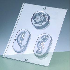 Gjutform för tvål - havsdjur / 3 delar