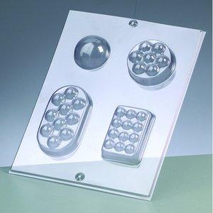 Gjutform för tvål - massagetvål / 4 delar