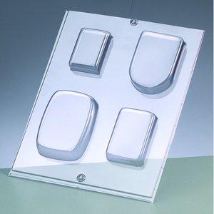 Gjutform för tvål - rektangulär / 4 delar