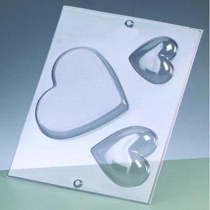 Gjutform - hjärtan 6-11 cm