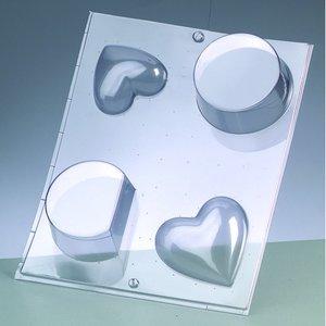 Gjutform - hjärta + rund form