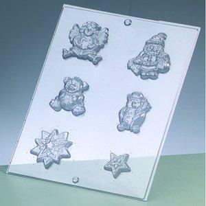 Gjutform - julmotiv 3-7 cm