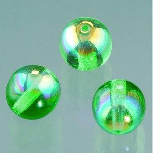 Glaspärla rund 6 mm - mörkgrön AB 50 st.