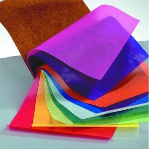Häfte med transparent papper 20 x 30 cm - blandade 10 blad