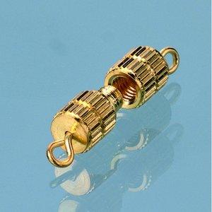 Halsbandslås 10 mm - förgylld 50 st. cylinder