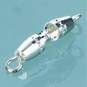 Halsbandslås 10 mm - försilvrade 2 st. oliv