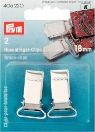 Hängselclips stål silverfärg 18 mm 2 st