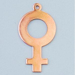 Hängsmycke 28 x 15 mm - feminin