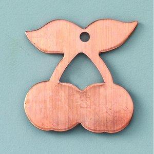Hängsmycke 29 x 29 mm - körsbär