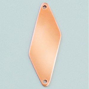 Hängsmycke 47 x 16 mm - rhomb 2-hål