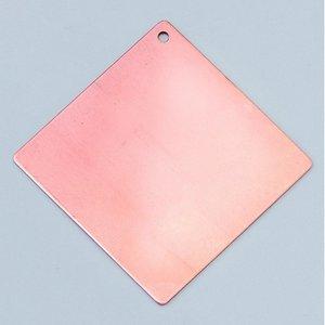 Hängsmycke 55 x 55 mm - fyrkantigt 1-hål