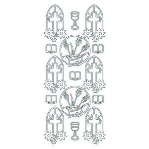 Hobbysticker 10 x 23 cm - guld Kristna symboler 2
