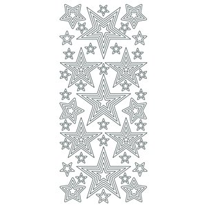 Hobbysticker 10 x 23 cm - guld Stjärnpussel