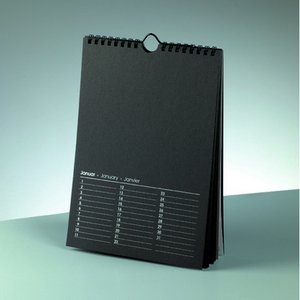 Kalender för foton 170 x 240 mm - svart