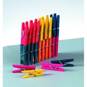 Klädnypor i trä 25 mm - flera färger