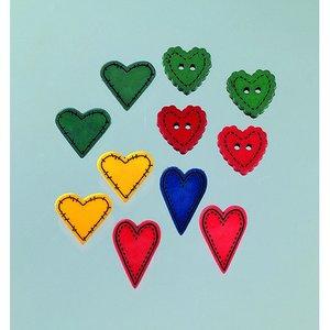 Knapp - flera färger 11 st. Landskapskärlek